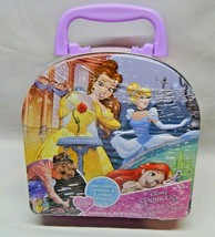 Disney Princess On The Go Sidewalk Chalk & Stencil Kit Tin Carry Case  - $23.00