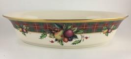 Lenox Holiday Tartan Oval vegetable bowl  - $125.00