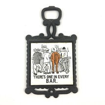 Vintage Wall Hanging One In Every Bar Cast Iron Tile Decor Funny Drinkin... - $14.79