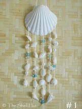 Seashell Wind Chime Sun Catcher Beach House Dream Catcher White Scallop ... - $25.00