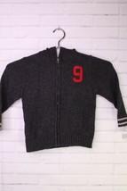 OshKosh Bgosh Varsity Sweater Cardigan Zip Up Dark Gray Toddler Boys Size 3T - $22.76