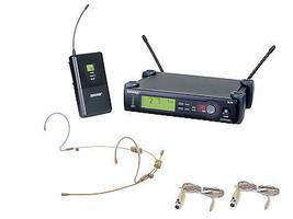 Shure SLX14 Wireless Beltpack System w/ OSP HS-12 Dual Earset Headset Mi... - $619.99