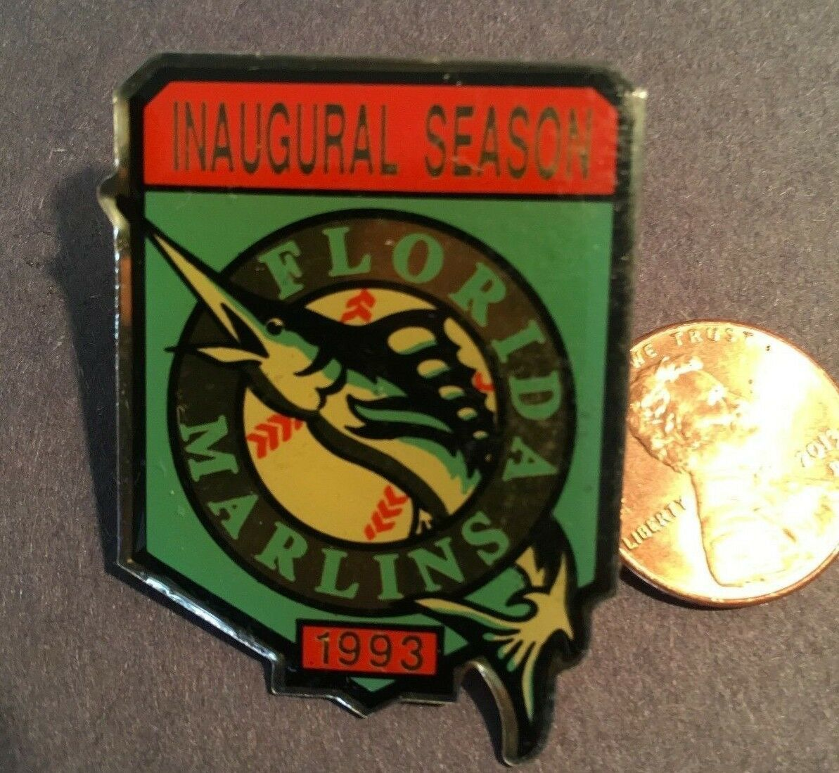 Primary image for Florida Marlins Broche - 1993 Inaugurale Saison