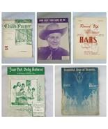 Klassischer Notenblatt Religiös Country Songs Lot Of 5 1930s 40s 50s - $52.29