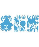 LiteMark Baby Blue Witch Pack Assorted Halloween Decorations Decal Stick... - $16.95