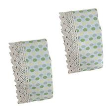 PANDA SUPERSTORE Set of 2 Adorable Green Polka Dot Magic Sticker Curtain Tieback