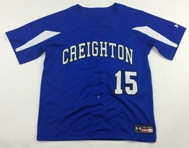 New Under Armour Creighton #15 Stock Rally Baseball Jersey Boy's L UBJ10... - $16.57