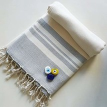 Secret Sea Collection Lightweight Turkish Peshtemal Towel %100 Bamboo 70... - $24.58