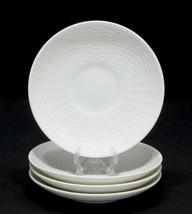 4 Wedgwood NANTUCKET Basket Weave Saucers - $25.10