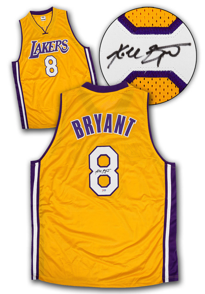 Primary image for Kobe Bryant Los Angeles Lakers Autographed Yellow Custom Basketball Jersey: PSA