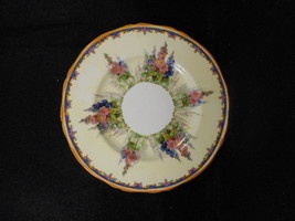"""Vintage Alfred Meakin Hollyhock China 6"""" Butter Plate - $11.88"""