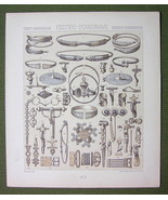 CELTIC Scandinavian Jewelry Arms - (3) Three Tinted Litho Prints by Racinet - $12.15