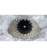 Vintage Sterling silver Sarah Coventry black onyx ring size 9 togetherne... - $68.00
