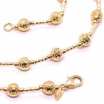 18K ROSE GOLD CHAIN FINELY WORKED 5 MM BALL SPHERES AND TUBE LINK, 15.8 INCHES image 3