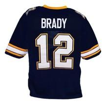 Tom Brady #12 Padres High School New Men Football Jersey Navy Blue Any Size image 2