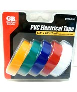 "GB Gardner Bender GTPC-550 1/2"" X 20' Assorted Electrical Tape 5 Count S... - $6.31"