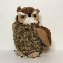 "Wild Republic Great Horned Owl Plush 12"" Tall 2013 K&M International Inc. - $19.52"