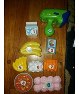 Leapfrog lot 9 Replacement Pretend and Learn shopping grocery food numbe... - $20.53