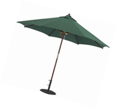 Tropishade 9 ft Wood Market Umbrella with Premium Green Olefin Cover - $102.81