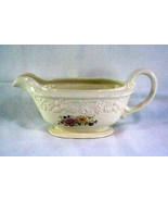 Homer Laughlin Floral TH6 M47N5 Footed Gravy Boat - $7.55