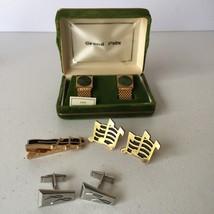 Lot of Vintage Men's 3 Sets of Cufflinks & 1 Tie Clip - $29.99