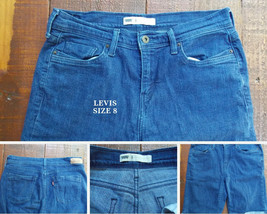 Women's Levis Red Tab Stretch Jean Shorts Cuff Size 8 29 30 x 10 - $14.84