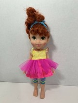 "Fancy Nancy Classique 10"" doll yellow pink dress blue crown striped legg... - $9.89"