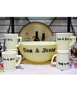 McKee Custard Glass Tom & Jerry Punch Bowl Set - $38.61