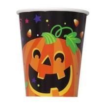 Happy Halloween Pumpkin 8 Ct 9oz Paper Hot/Cold Cups - $2.99