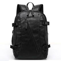 Vintage Leather Backpack School College Bookbag Laptop Computer Backpack for Men - $59.99