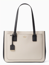 Kate Spade New York Cameron Street Zooey Handbag in Tusk/Black - $262.35