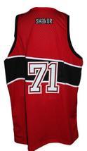 Tupac Shakur #71 Makaveli Hip Hop Custom Basketball Jersey New Sewn Red Any Size image 2