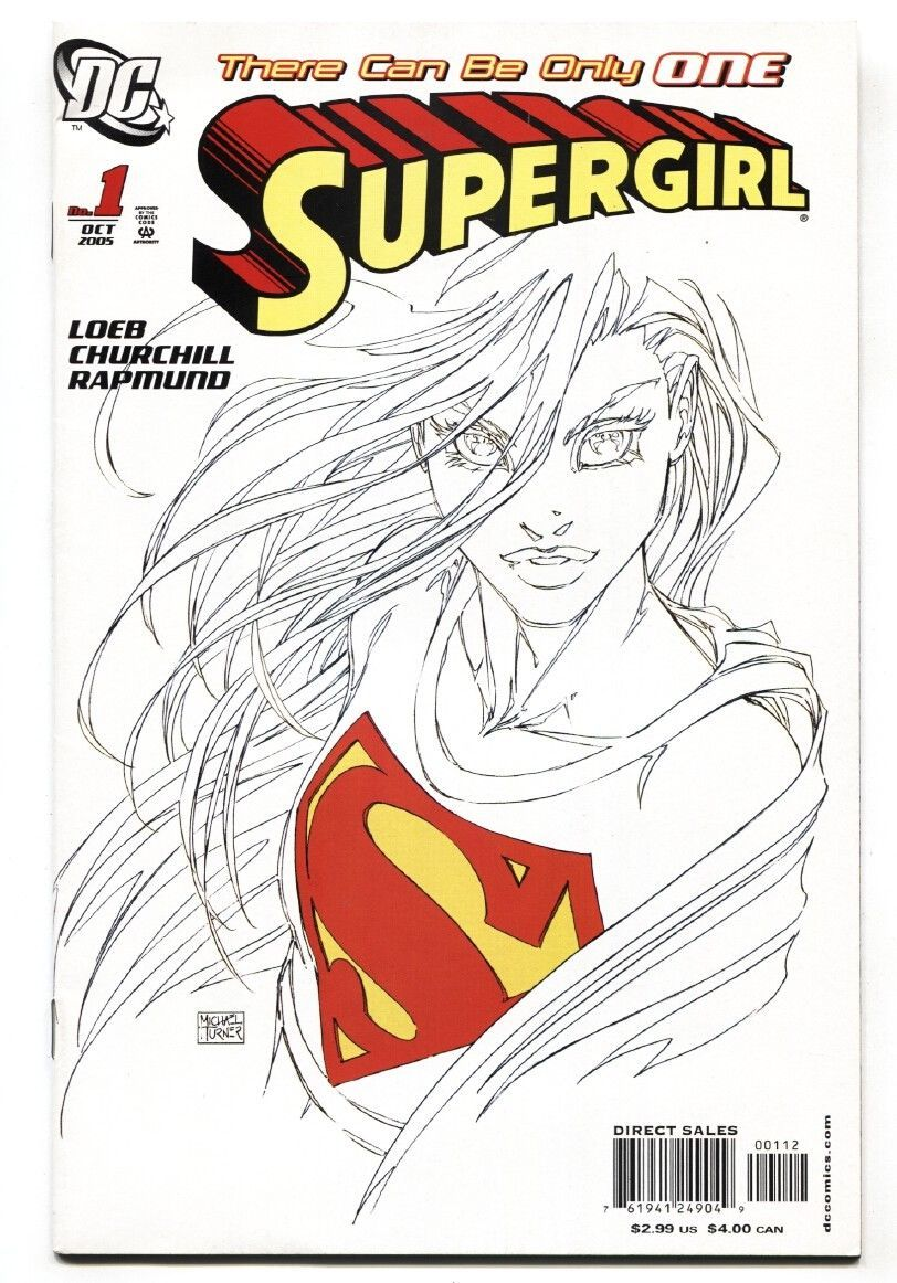 SUPERGIRL #1-2005-2nd print-Michael Turner sketch variant
