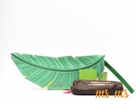 NWT Kate Spade Bananas Leaf Green Leather Flight of Fancy Clutch - ₨11,688.06 INR