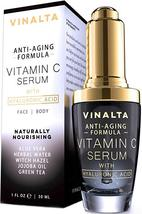 vinalta Vitamin C Serum with Hyaluronic Acid for Face by Vinalta, Aloe, CoQ10 - $19.99