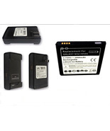 Samsung Galaxy S4 Battery + Dock Charger Replacement IV Four 4 i9500 Tra... - $16.69