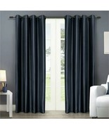 Exclusive Home Chatra Faux Silk Set of 2 grommet panels, 54x108in, indigo - $40.00