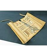 ESTEE LAUDER Gold Faux Leather Cosmetic Bag & Gold 10 Pieces Brush Set - $39.00