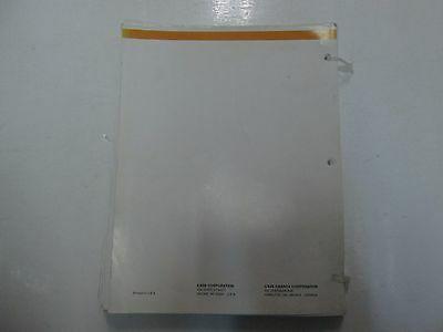 Schutzhülle 75XT Skid Steer Teile Katalog Manuell Locker Blatt Minor Wear OEM **