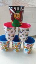 Emoji 16oz Plastic Cup x6 mix colors - $30.21 CAD