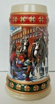 1993 Budweiser Beer Stein Mug Clydesdale Hometown Holiday H9 - $24.99