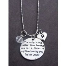 Personalized Aunt Necklace, Aunt Gift Jewelry, Aunt Keepsake Gift, Gift ... - $16.50