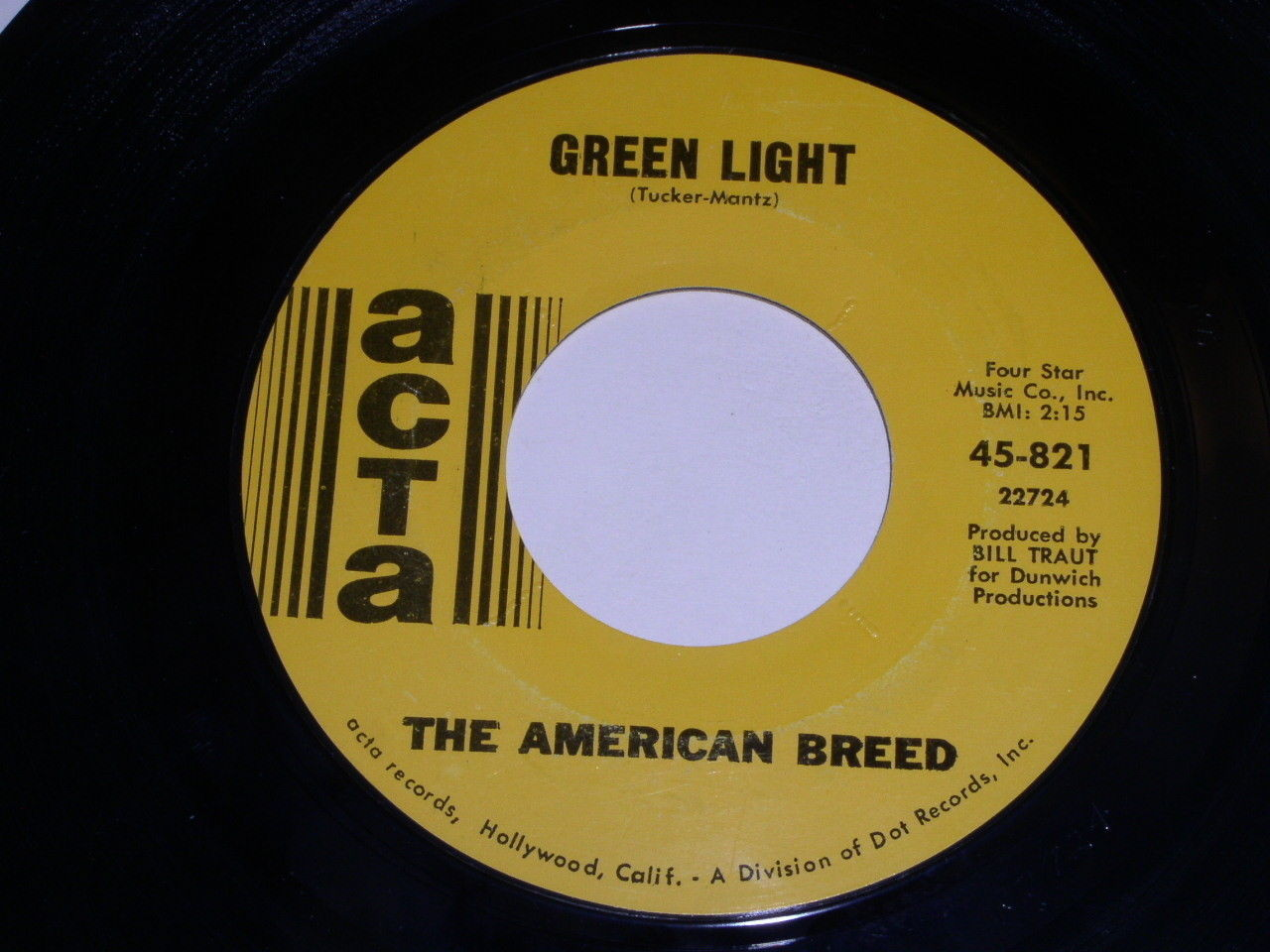 The American Breed Green Light Don't It Make You Cry 45 Rpm Record Acta Label