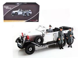 1938 Mercedes G4 With 3 Figurines 1:18 Diecast Model Car by Signature Mo... - $152.46