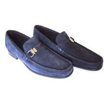 J-1869249 New Salvatore Ferragamo Mueller Blue Marin Loafer Shoes Size 7 - $399.99