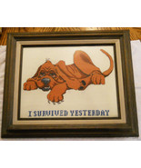"Blood Hound Dog Cross Stitch Embroidery Picture Wood Frame Wall Art ""I S... - $39.56"