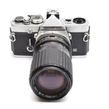 Olympus OM-1 MD 35mm SLR Camera with Sigma Zoom-αⅡ  35-105mm f/3.5-4.5 Lens - $79.20