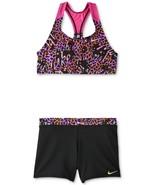 new NIKE big girls 2-pc. RACERBACK TANKINI & SHORTS SWIMSUIT sz L swimming set - $39.50