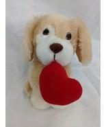 "Russ Amber Dog Plush 5.5"" Red Heart Pillow Stuffed Animal Toy - $12.95"
