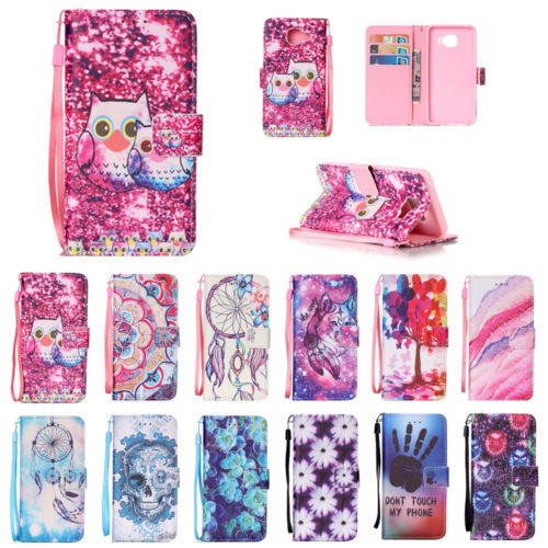 PU Leather Pattern Smart Wallet Hand Rope Case for Samsung Galaxy A3 2016 A310